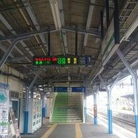 Photo taken at 上諏訪駅 1番線ホーム by ガルイヤ@チノ on 3/13/2016