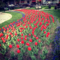 Photo taken at Farragut Square by Ashley on 4/23/2013