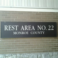 Photo taken at Monroe County Rest Area No. 22 by Scott W. on 3/25/2013