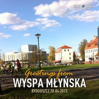 Photo taken at Wyspa Młyńska by Kasia M. on 4/28/2013