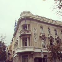 Photo taken at Ambasada Grčke | Embassy of Greece by Alice T. on 10/29/2014