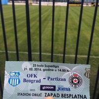 Photo taken at Omladinski stadion   OFK Beograd by Alice T. on 2/22/2016