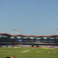 Photo taken at Jawaharlal Nehru Stadium by Achuth M. on 1/15/2013