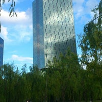 Photo taken at Parc del Centre del Poblenou by Lluis C. on 6/2/2013