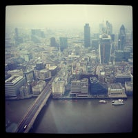 Photo taken at The View from The Shard by Arek G. on 2/12/2013