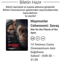 7/14/2017 tarihinde Metin İ.ziyaretçi tarafından Cinemaximum'de çekilen fotoğraf