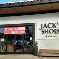 Photo taken at Jack's Shoes of Westlake by Frank M. on 1/22/2017