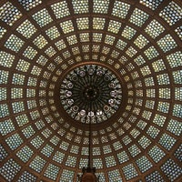 Photo taken at Tiffany Dome At The Chicago Cultural Center by Noelia d. on 12/30/2016