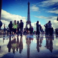 Photo taken at Place du Trocadéro by Chris Z. on 6/23/2013