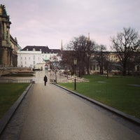Photo taken at Burggarten by alex k. on 1/30/2013