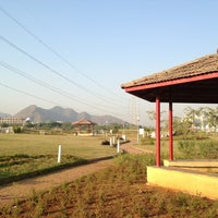 Photo taken at Central Park Kharghar by Amit K. on 1/13/2013