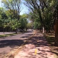 Photo taken at Pista de Caminhada by Daniel P. on 9/28/2013