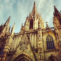 Photo taken at Cathedral of Saint Eulalia of Barcelona by Nikita Z. on 1/23/2013