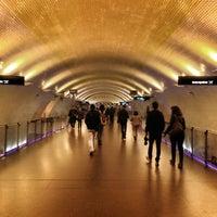 Photo taken at Metro Baixa-Chiado [AZ,VD] by Andy A. on 3/23/2013