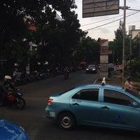 Photo taken at Halte TransJakarta S Parman Podomoro City by Om A. on 5/8/2014
