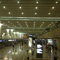 Photo taken at T1 Shanghai Pudong Int'l Airport by Qiang Z. on 7/28/2013
