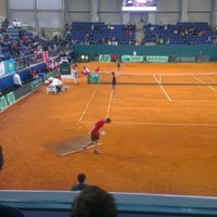 Photo taken at Daulet National Tennis Centre by Klyde on 2/1/2013
