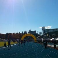 Photo taken at Sendai City Athletic Stadium by yuki t. on 11/3/2012
