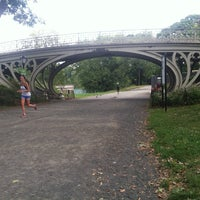 Photo taken at Central Park - Gothic Bridge by Robin . on 9/20/2014