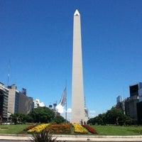 Photo taken at Obelisco - Plaza de la República by Henrique S. on 1/22/2013