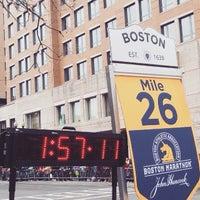 Photo taken at Marathon Monday 2012 by Nicole S. on 4/21/2015