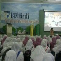 Photo taken at SMA Lazuardi GIS by Indah W. on 10/16/2012