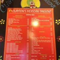 Photo taken at Clayton's Mexican Takeout by Jim C. on 2/6/2013