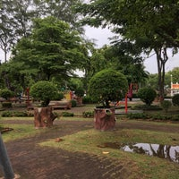 Photo taken at Sri Mueang Park by Emma P. on 7/19/2017