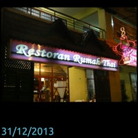 Photo taken at Rumah Thai Restaurant by Ceplos S. on 12/31/2013
