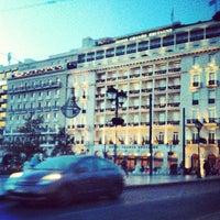 Photo taken at Syntagma Bus Station by Rafaella R. on 10/9/2013