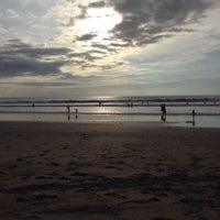 Photo taken at Legian Beach by Josephine F. on 1/6/2014