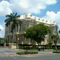 Photo taken at Paseo de Montejo by Irving G. on 10/31/2012