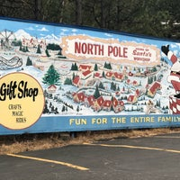 Photo taken at North Pole! Home of Santa's Workshop by Benton on 4/6/2018