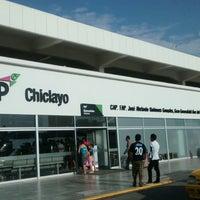 Photo taken at Aeropuerto Internacional Capitán FAP José A. Quiñones González (CIX) by Harry G. on 4/12/2014