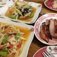 Photo taken at ร้านลูกหิน ส้มตำ อาหารอีสาน by Nationn M. on 3/13/2016