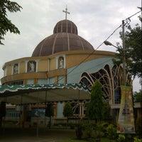 Photo taken at Gereja St. Petrus Palembang by Lusia W. on 12/22/2013