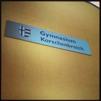 Photo taken at Gymnasium Korschenbroich by Marc on 9/4/2013