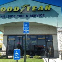 Photo taken at Goodyear (Hillside Tire) by Mollie B. on 10/2/2012