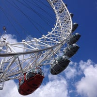 Photo taken at The London Eye by Maria P. on 7/29/2013