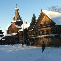Photo taken at Музей деревянного зодчества «Витославлицы» by Lada L. on 12/16/2012