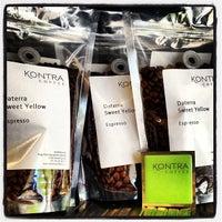 Photo taken at Kontra Coffee by Karina R. on 3/12/2013