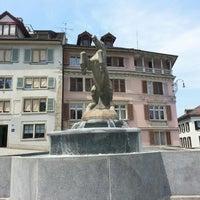 Photo taken at Manessebrunnen by Mr. X. on 7/9/2013