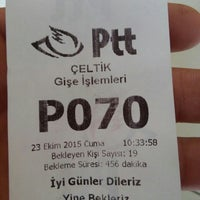 Photo taken at Ptt Estel Şubesi by RiDocan A. on 10/23/2015