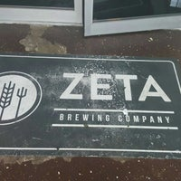 Photo taken at Zeta Brewing Co. by Hunter R. on 8/19/2017