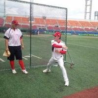 Photo taken at Mudeung Baseball Stadium by WWW .. on 10/1/2013