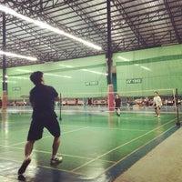 Photo taken at CC Badminton Court by Oui Yha !. on 10/29/2014