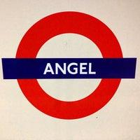 Photo taken at Angel London Underground Station by Misha C. on 12/23/2012
