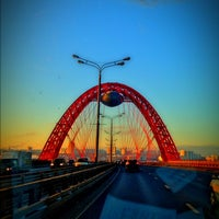 Photo taken at Zhivopisny Bridge by Александр Е on 12/12/2012