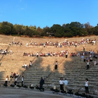 Photo taken at Epidaurus Ancient Theatre by Lorena on 7/13/2013