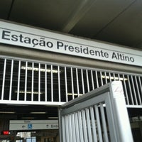 Photo taken at Estação Presidente Altino (CPTM) by Thiago K. on 1/3/2013